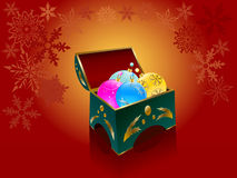 Christmas  balls in an elegant box Stock Photos