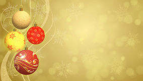 Christmas Balls Festive Background Stock Photography