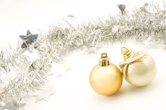 Christmas balls and festoon Royalty Free Stock Image