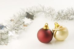 Christmas balls and festoon. Perfect for illustrating christmas royalty free stock photography