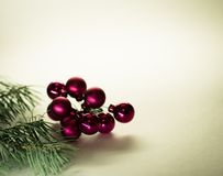 Christmas balls and fir branches Royalty Free Stock Photo