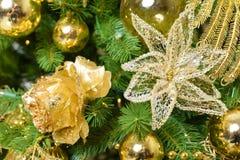 Christmas balls on fir tree. New Year holidays and Christmastime celebration Royalty Free Stock Image