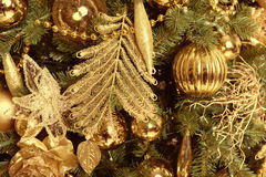 Christmas balls on fir tree. New Year holidays and Christmastime celebration Royalty Free Stock Photography