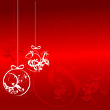 Christmas balls - floral ornament background Stock Photos