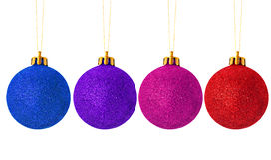 Christmas balls four Royalty Free Stock Photos