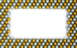 Christmas balls frame Stock Image