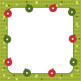 Christmas balls frame. Illustration of a cute frame for Christmas with ornamental balls.Useful also as greeting card or photo frame.EPS file available Stock Photo