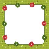Christmas balls frame stock photo