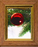 Christmas balls in frame Stock Image