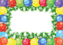 Christmas balls frame Royalty Free Stock Photo