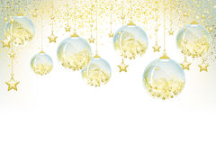 Christmas balls. Full vector background Royalty Free Stock Photo