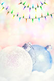 Christmas balls and garland Stock Photography