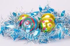 Christmas balls and garland Royalty Free Stock Image