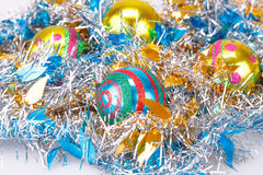 Christmas balls and garland Royalty Free Stock Images