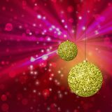 Christmas balls generated hires texture Stock Photography