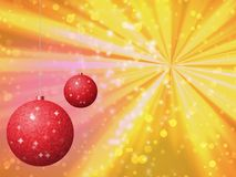 Christmas balls generated hires texture Royalty Free Stock Image