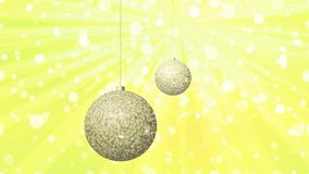 Christmas balls generated seamless loop stock footage