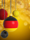 Christmas balls with German flag Stock Image