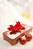Christmas balls with gift box Royalty Free Stock Photography