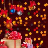 Christmas balls and gifts 1 Stock Photos