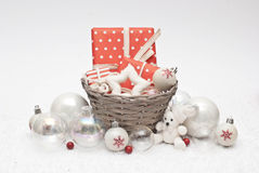 Christmas. Balls, gifts and decoration Stock Image