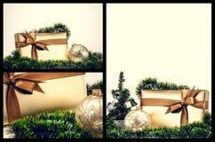 Christmas balls and gifts Royalty Free Stock Photo