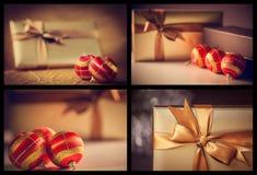Christmas balls and gifts Stock Image