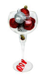 Christmas balls in a glass Royalty Free Stock Images