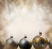 Christmas balls with glittering background Stock Image