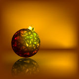 Christmas balls on the gold background. EPS 8 Stock Photos