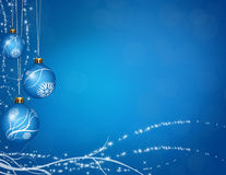 Christmas balls greeting. With stars and sparkle shapes for winter holidays concept Vector Illustration