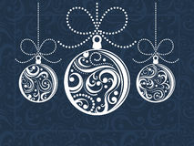 Christmas balls greeting card Royalty Free Stock Images