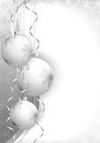 Christmas balls grey Stock Photos
