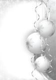 Christmas balls grey Stock Photography