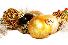 Christmas balls in a group Stock Images