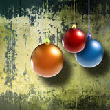 Christmas balls on grunge background Royalty Free Stock Image