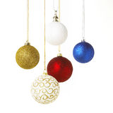 Christmas balls hangig Stock Photo