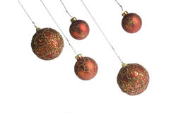 Christmas balls hanging Stock Photo