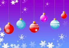 Christmas balls hanging. Colorful christmas balls hanging, background Royalty Free Stock Photo