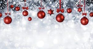 Christmas Balls Hanging stock images