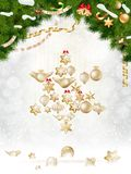 Christmas balls hanging on fir tree. EPS 10. Vector file included Stock Photos