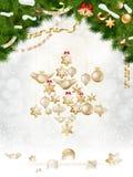 Christmas balls hanging on fir tree. EPS 10 Stock Photos