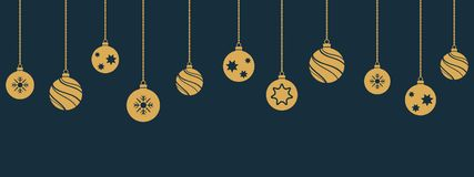 Christmas Balls Hanging Ornament Stock Photography