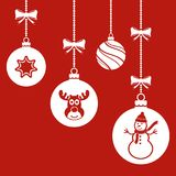 Christmas Balls Hanging Ornament Royalty Free Stock Photography