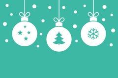 Christmas balls hanging ornaments background royalty free illustration