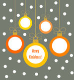 Christmas balls hanging ornaments Stock Photos