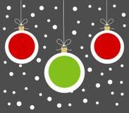 Christmas balls hanging ornaments Stock Image