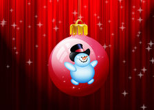 Christmas balls hanging on red background Royalty Free Stock Photography