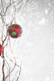Christmas balls hanging stock image