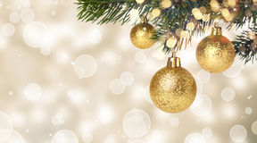 Christmas balls hanging Royalty Free Stock Photography